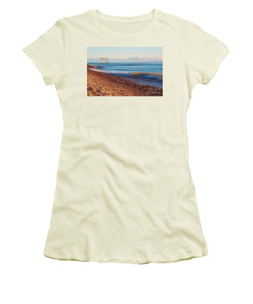 Women's T-Shirt (Junior Cut) featuring the photograph The Boat Hoist by Patrick Shupert