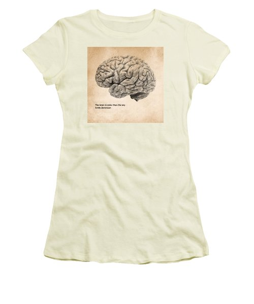 The Brain Is Wider Than The Sky Women's T-Shirt (Athletic Fit)