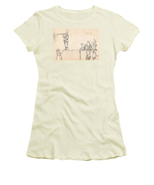 The Captain Women's T-Shirt (Junior Cut) by H James Hoff
