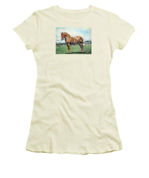 Women's T-Shirt (Junior Cut) featuring the painting The Champ by Donna Tucker