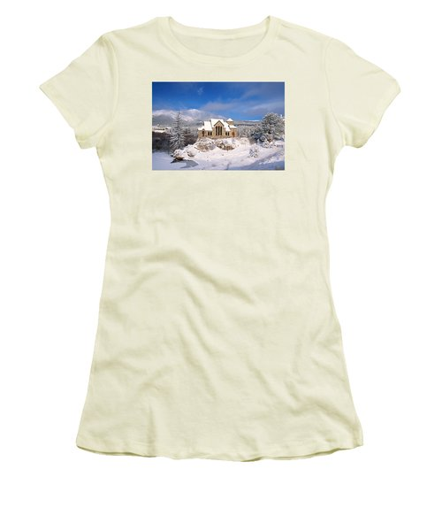 The Chapel On The Rock 3 Women's T-Shirt (Junior Cut) by Eric Glaser