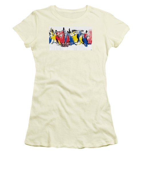 Women's T-Shirt (Junior Cut) featuring the painting The Dance by Roz Abellera Art