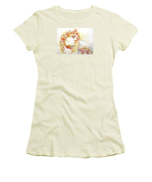 The David By Michelangelo. Tribute Women's T-Shirt (Junior Cut) by J- J- Espinoza