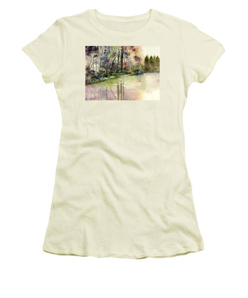 The End Of Wonderful Day Women's T-Shirt (Athletic Fit)