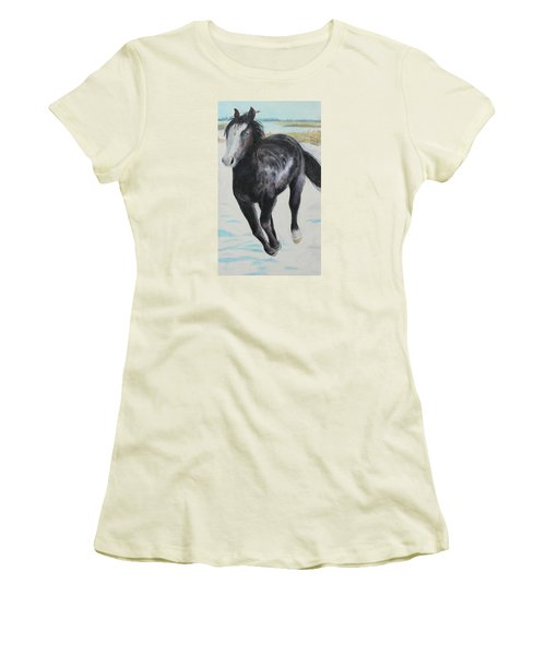 The Feel Of The Cool Air Women's T-Shirt (Junior Cut) by Jeanne Fischer