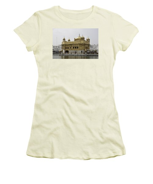 Women's T-Shirt (Junior Cut) featuring the photograph The Golden Temple In Amritsar by Ashish Agarwal