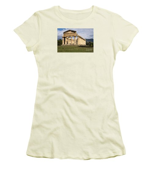 The Greek Temple Of Athena Women's T-Shirt (Athletic Fit)