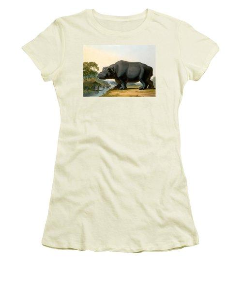 The Hippopotamus, 1804 Women's T-Shirt (Junior Cut) by Samuel Daniell