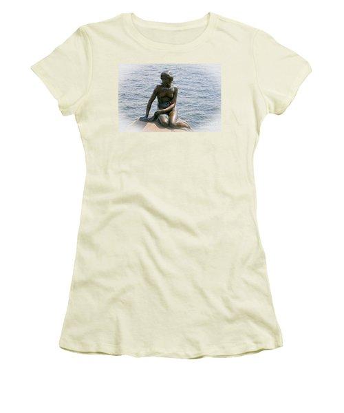 The Little Mermaid Of Copenhagen Women's T-Shirt (Athletic Fit)
