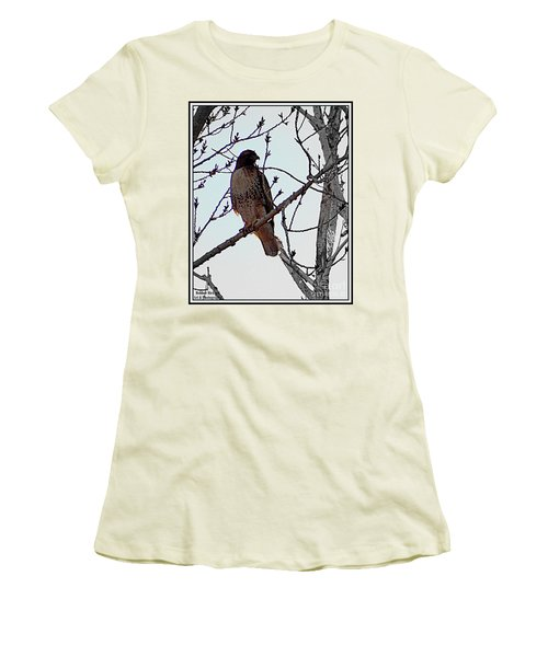 The Majestic Hawk Women's T-Shirt (Athletic Fit)