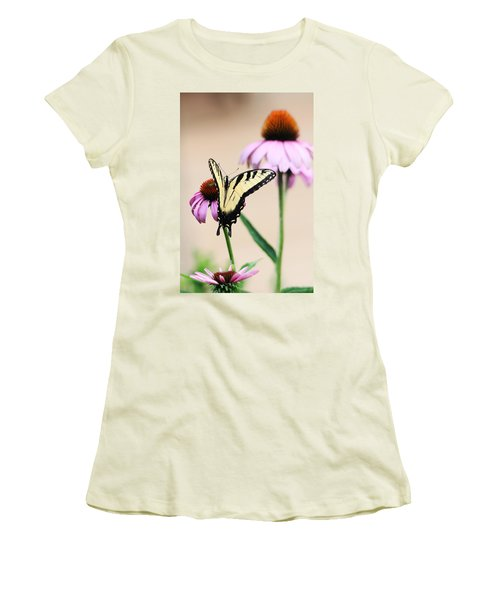 Women's T-Shirt (Junior Cut) featuring the photograph The Swallowtail by Trina  Ansel