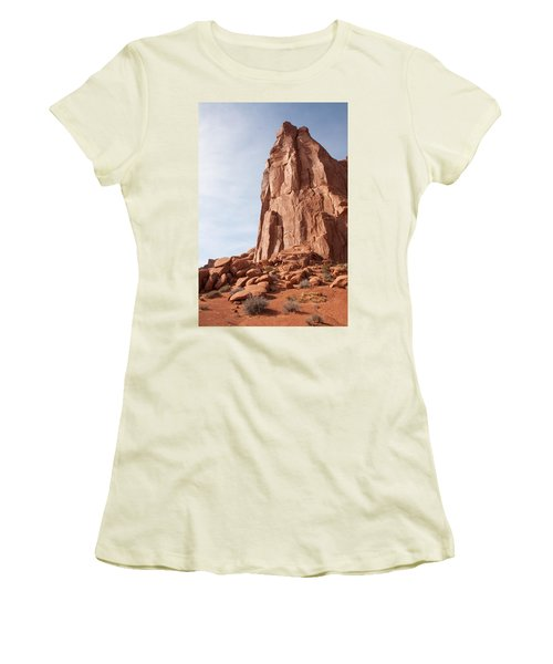 Women's T-Shirt (Junior Cut) featuring the photograph The Monolith by John M Bailey