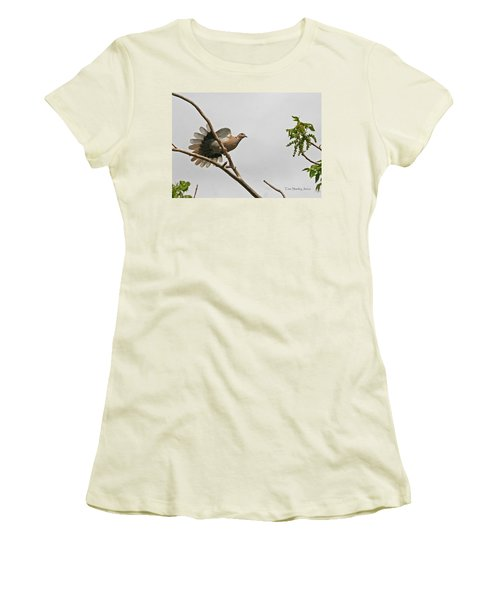 Women's T-Shirt (Junior Cut) featuring the photograph The New Dove In Town by Tom Janca