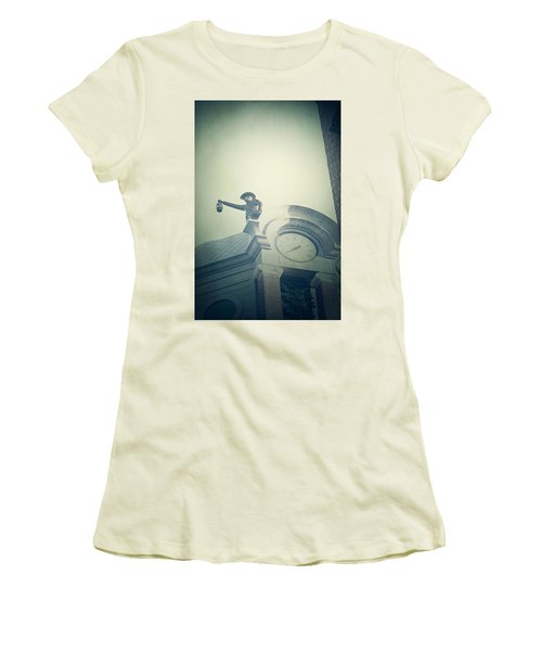 Women's T-Shirt (Junior Cut) featuring the photograph The Night Watchman by Trish Mistric