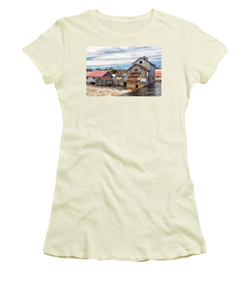 The Old Mill And The Raging River Women's T-Shirt (Athletic Fit)