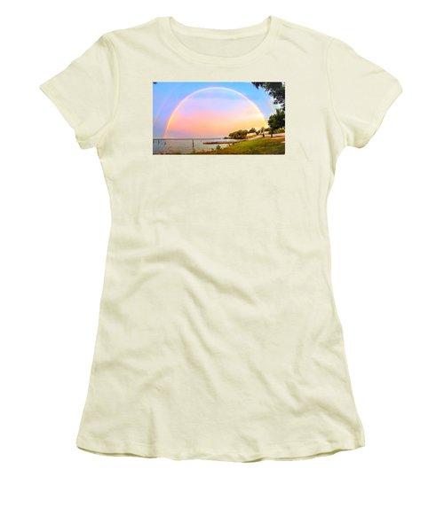 The Rainbow Women's T-Shirt (Junior Cut) by Carlos Avila