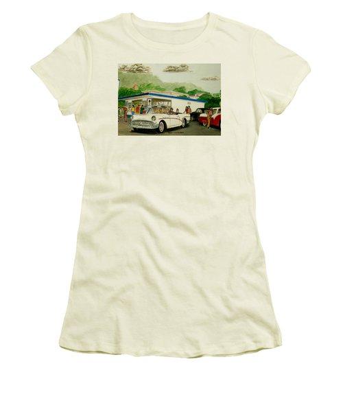 The Shake Shoppe Portsmouth Ohio 1960 Women's T-Shirt (Athletic Fit)