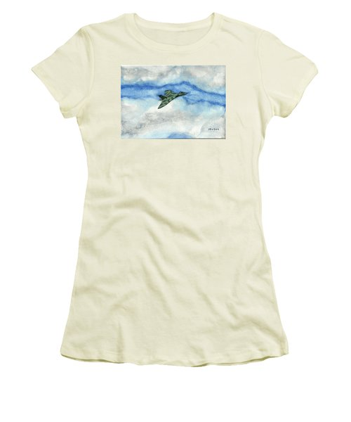 The Vulcan Bomber Women's T-Shirt (Junior Cut) by John Williams
