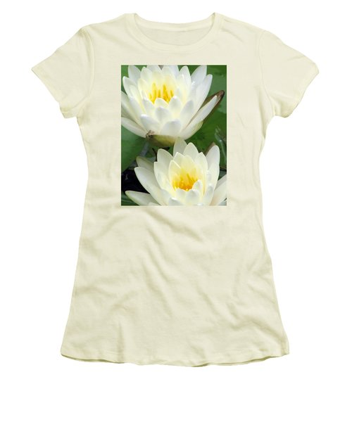 Women's T-Shirt (Junior Cut) featuring the photograph The Water Lilies Collection - 09 by Pamela Critchlow