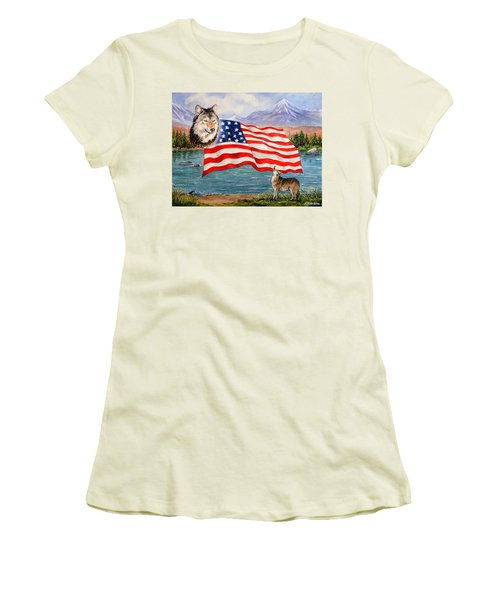 The Wildlife Freedom Collection 1 Women's T-Shirt (Athletic Fit)