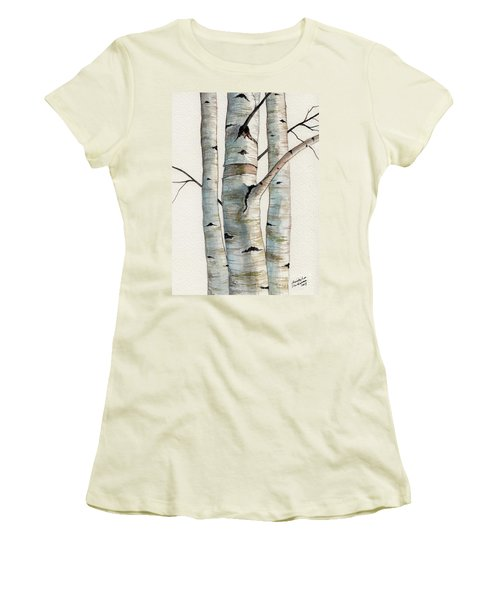 Three Birch Trees Women's T-Shirt (Athletic Fit)