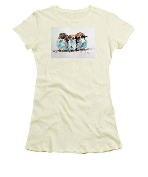 Three Birds Women's T-Shirt (Junior Cut) by Kovacs Anna Brigitta