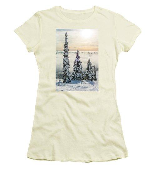 Three Wise Men Women's T-Shirt (Junior Cut) by Aaron Aldrich