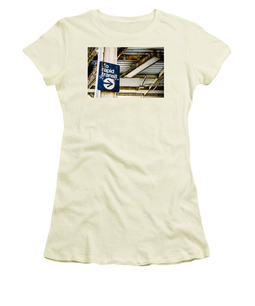 To Rapid Transit Women's T-Shirt (Athletic Fit)