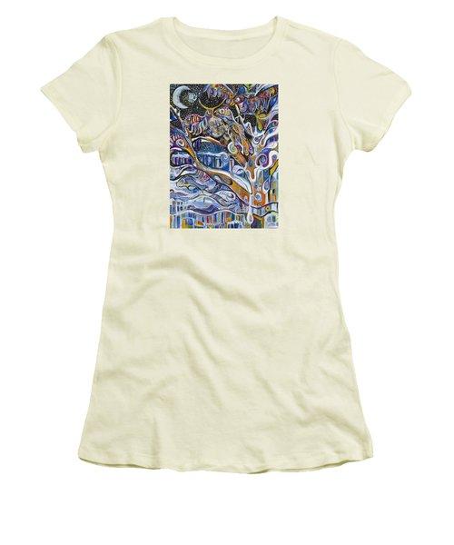 Transitions Women's T-Shirt (Junior Cut) by Leela Payne