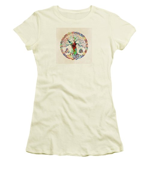 Tree Of Life Women's T-Shirt (Junior Cut) by Olga Hamilton