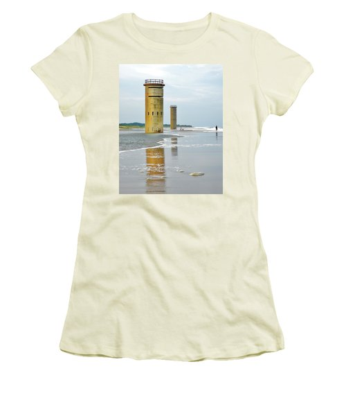 Twin Towers At Whiskey Beach Women's T-Shirt (Athletic Fit)