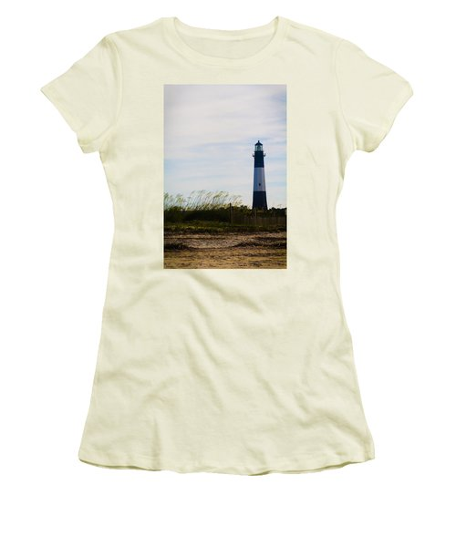 Tybee Island Lighthouse Women's T-Shirt (Athletic Fit)