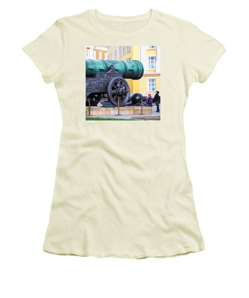 Tzar Cannon Of Moscow Kremlin - Square Women's T-Shirt (Junior Cut) by Alexander Senin