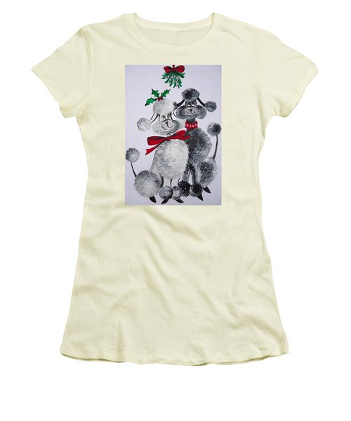 Under The Mistletoe Women's T-Shirt (Athletic Fit)