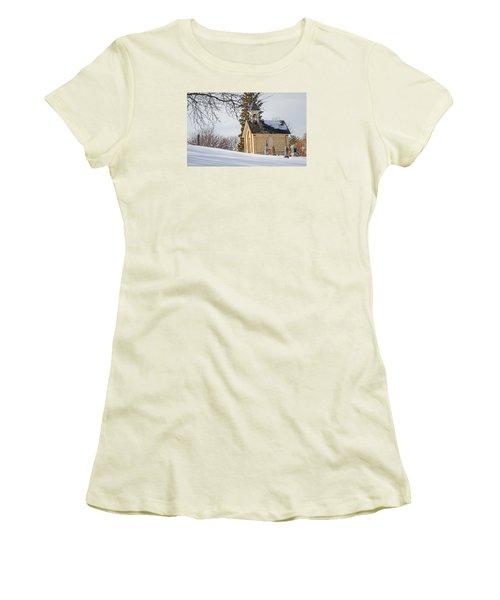 Union Cemetery Chapel Women's T-Shirt (Junior Cut) by Susan  McMenamin