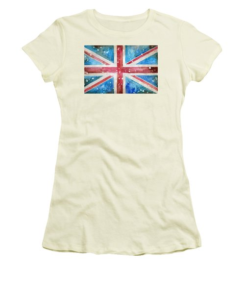 Union Jack Women's T-Shirt (Junior Cut) by Sean Parnell