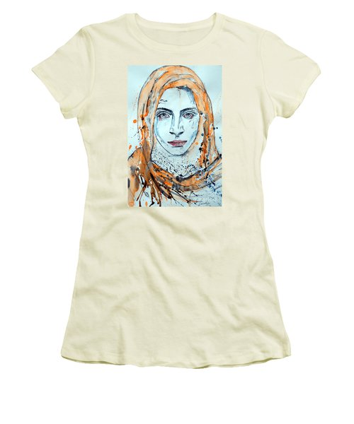 Women's T-Shirt (Junior Cut) featuring the painting Untitled 10 by Ismeta Gruenwald