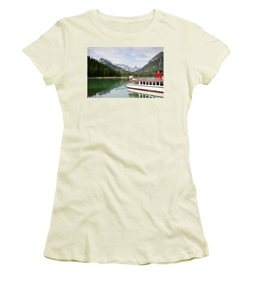 Women's T-Shirt (Junior Cut) featuring the photograph Upper Waterton Lakes by Teresa Zieba
