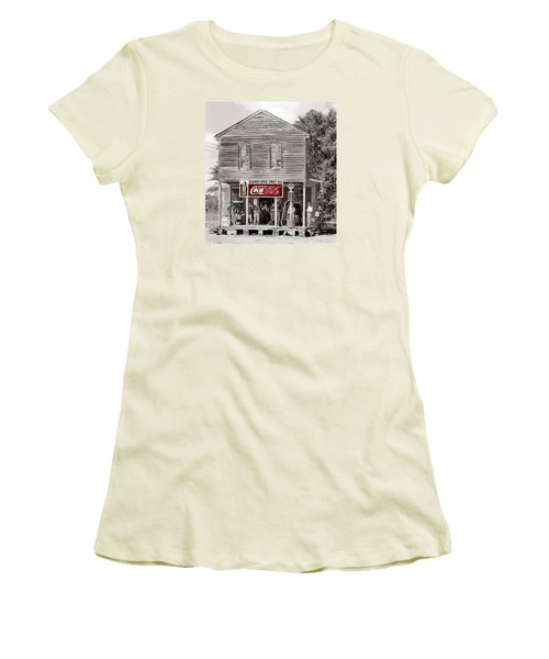U.s. Post Office General Store Coca-cola Signs Sprott  Alabama Walker Evans Photo C.1935-2014. Women's T-Shirt (Junior Cut) by David Lee Guss