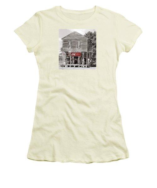 U.s. Post Office General Store Coca-cola Signs Sprott  Alabama Walker Evans Photo C.1935-2014. Women's T-Shirt (Athletic Fit)