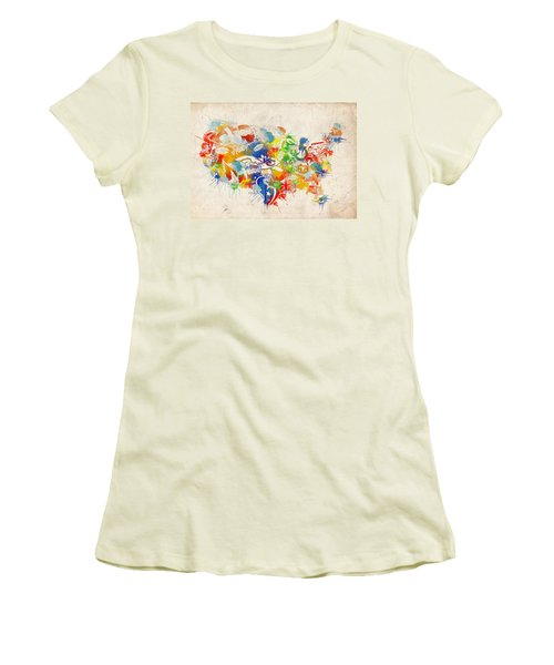 Usa Nfl Map Collage 12 Women's T-Shirt (Athletic Fit)