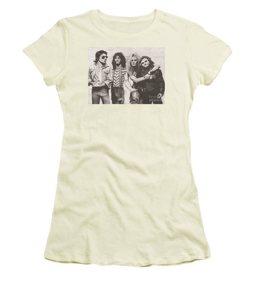 Van Halen Women's T-Shirt (Junior Cut) by Jeff Ridlen