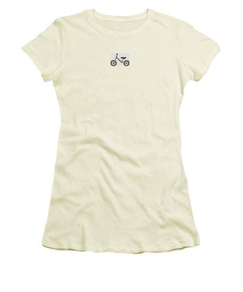 Women's T-Shirt (Junior Cut) featuring the digital art Green Yummy Bike by Maciek Froncisz
