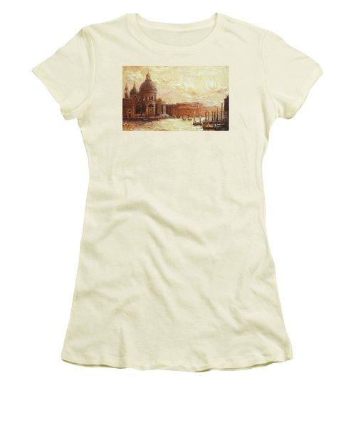 Venice - Santa Maria Della Salute Women's T-Shirt (Junior Cut) by Irek Szelag