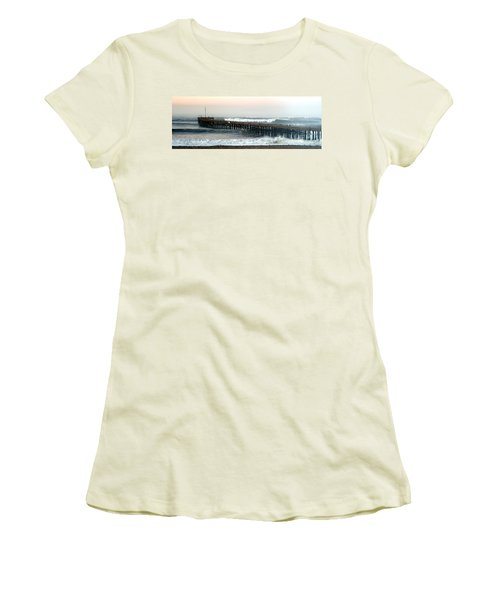 Ventura Storm Pier Women's T-Shirt (Junior Cut) by Henrik Lehnerer
