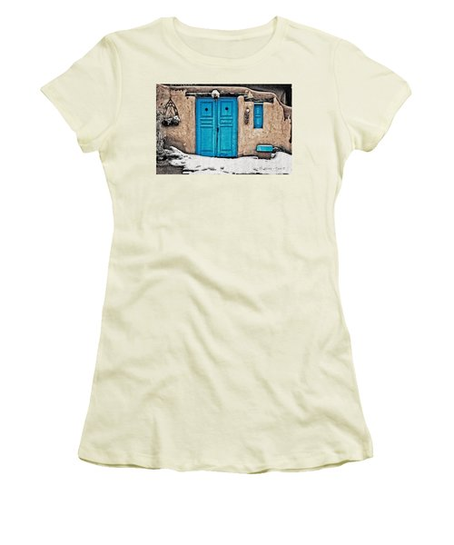Very Blue Door Women's T-Shirt (Athletic Fit)