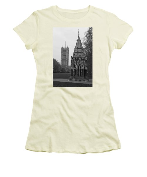 Women's T-Shirt (Junior Cut) featuring the photograph Victoria Tower Garden by Maj Seda