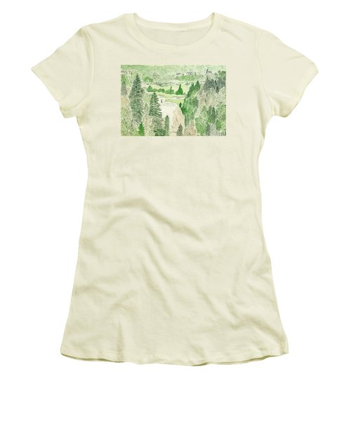 View From The Dam Women's T-Shirt (Athletic Fit)