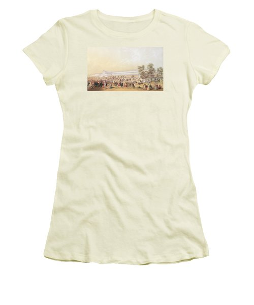View Of The Crystal Palace Women's T-Shirt (Junior Cut) by George Baxter