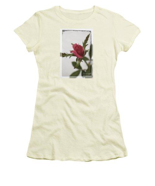 Vintage Antique Rose Women's T-Shirt (Junior Cut)